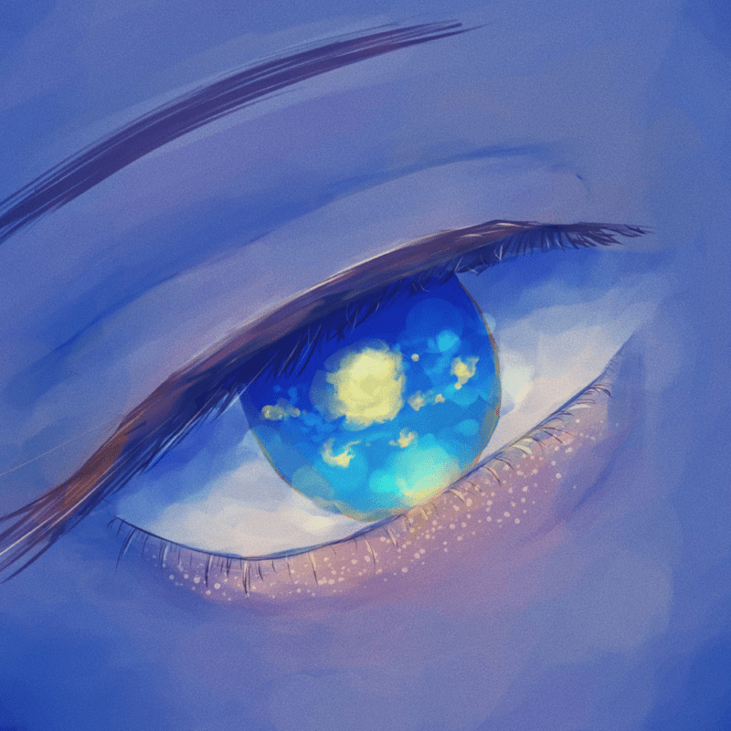 Eyes under the moon
