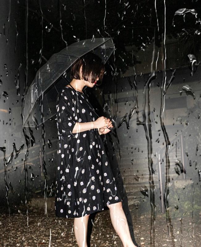 雨降りゆいちゃん。
