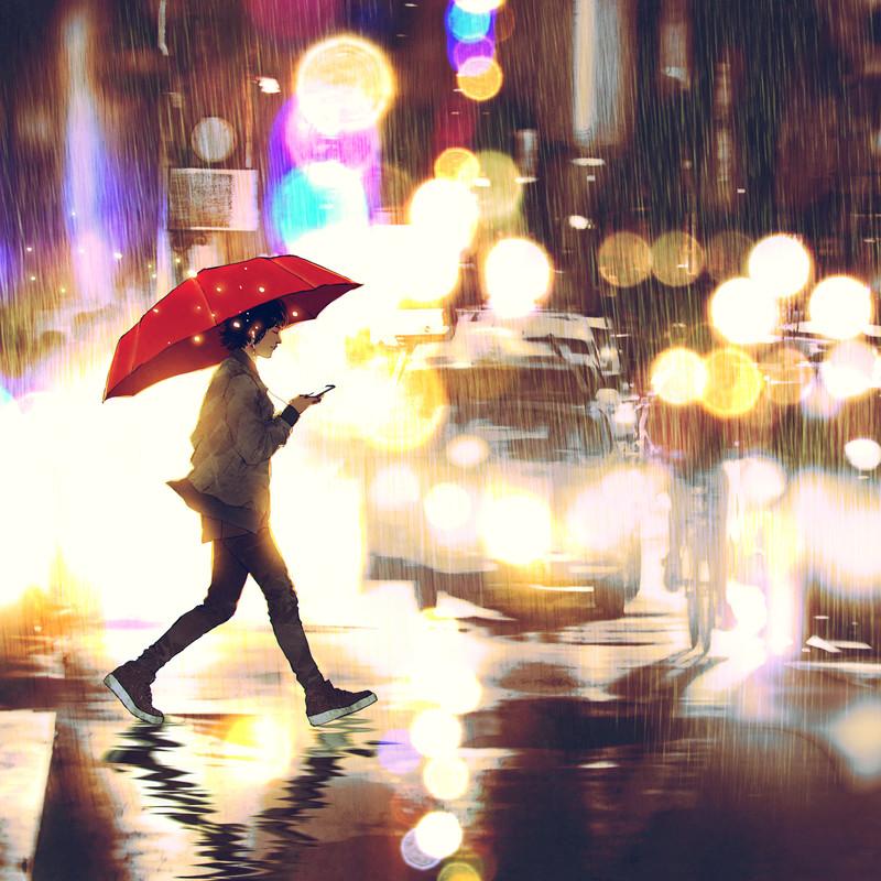 by Tokyo rain