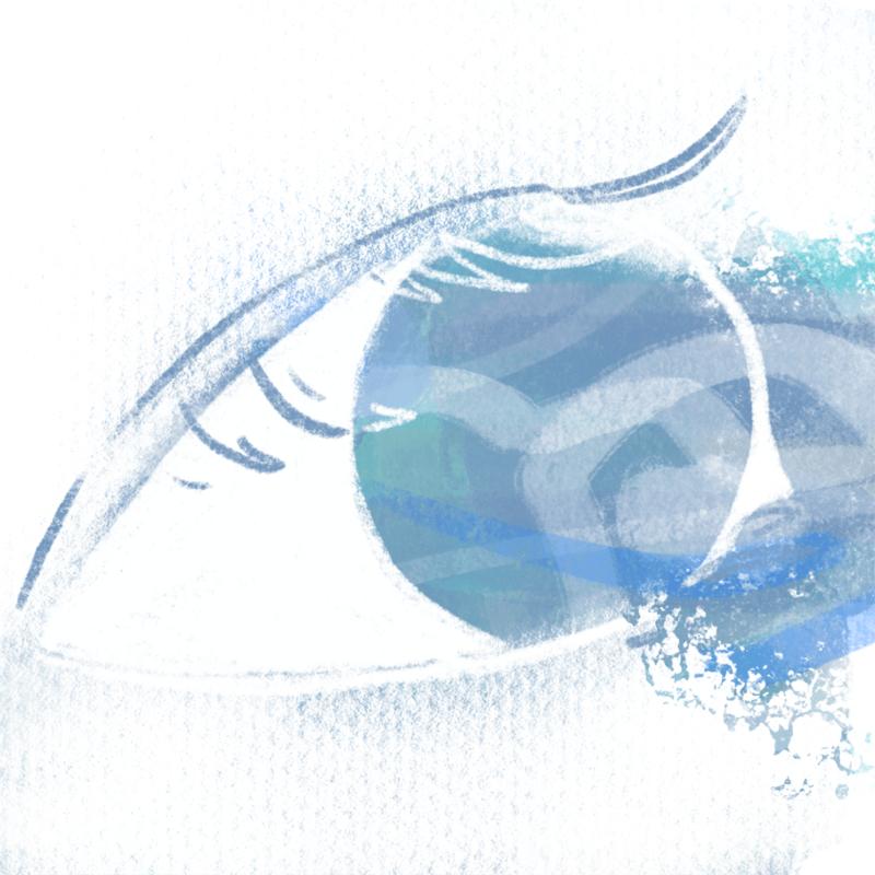 この目に映る君の青
