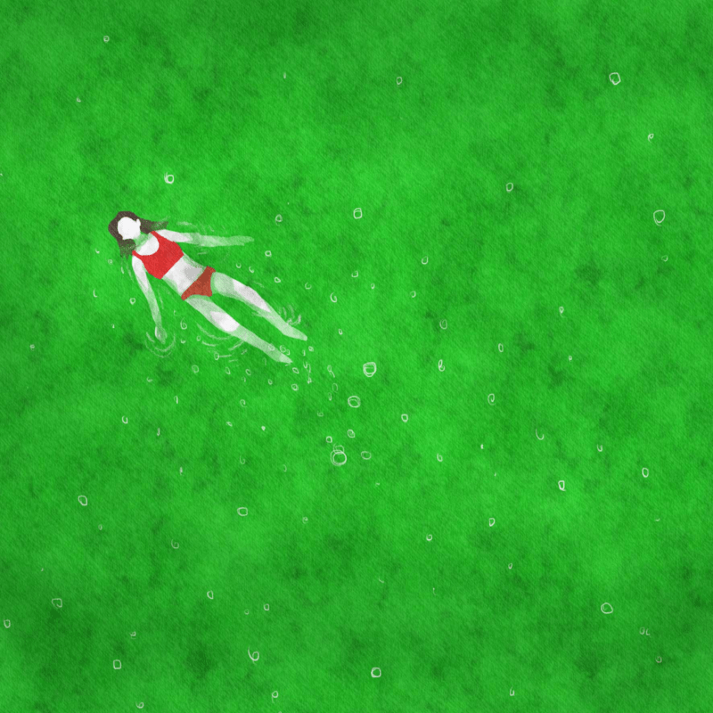私は泳ぐ、メロンソーダ
