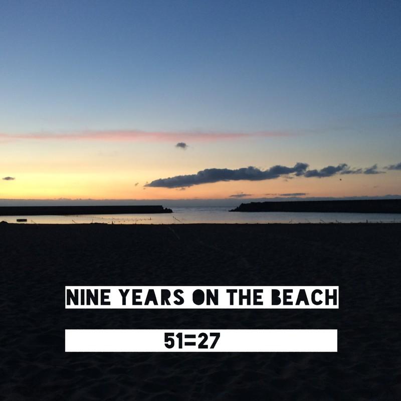 Nine years on the beach
